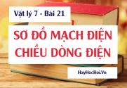 Sơ đồ mạch điện, ký hiệu các bộ phận mạch điện, Quy ước chiều dòng điện và Bài tập - Vật lý 7 bài 21